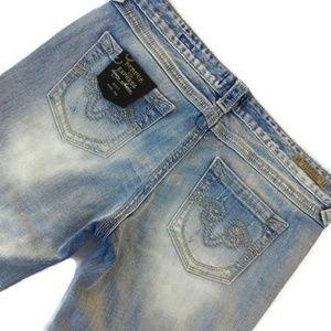 ReRock for Express Jeans Boot Light 10 34 x 31